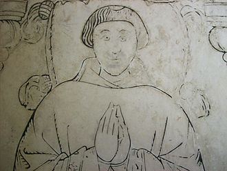 John Darras - A medieval monk, depicted on a gravestone at Rock. The church was monastic property.