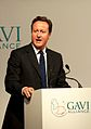 Prime Minister David Cameron, speaking at the opening of the GAVI Alliance immunisations pledging conference in London, June 13 2011 (2).jpg