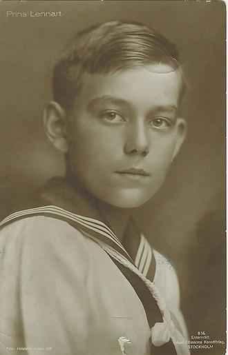 Lennart Bernadotte - Prince Lennart Bernadotte in 1921