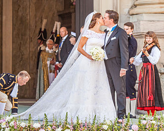 Wedding of Princess Madeleine and Christopher O'Neill - The newlyweds following the ceremony