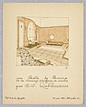 Print, Gazette du Bon Ton (Journal of Good Tastes), Vol. 2, No. 9, Une Salle de Bains, lit de massage et coiffeuse de marbre (A Bathroom, massage bed, and marble dressing table), Plate 41, 1920 (CH 18509411).jpg