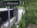 Privas (Ardèche, Fr) Le Mézayon, panneau du pont.JPG
