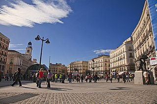 Puerta del Sol square in Madrid, Spain