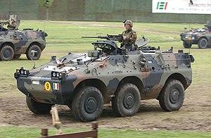 Puma (AFV) - Puma 6x6 with a M2HB machine gun mount