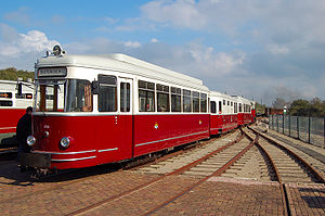 "Narrow-gauge railways in the Netherlands - Diesel-electric tram of the Rotterdamse Tramweg Maatschappij, MBD 1700 EB 1701-1702 ""Sperwer"""