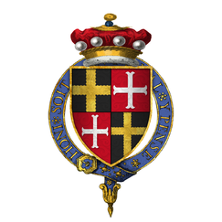 Quartered arms of Sir Robert de Willoughby, 6th Baron Willoughby d'Eresby, KG.png