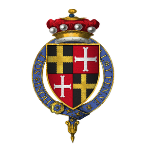Robert Willoughby, 6th Baron Willoughby de Eresby - Quartered arms of Sir Robert de Willoughby, 6th Baron Willoughby d'Eresby, KG