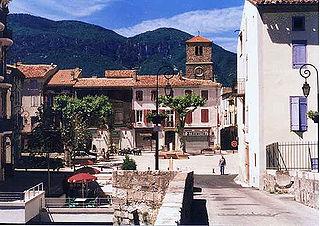 Quillan Commune in Occitanie, France