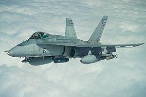 Operation Okra - An Australian F/A-18 Hornet over Iraq in March 2017