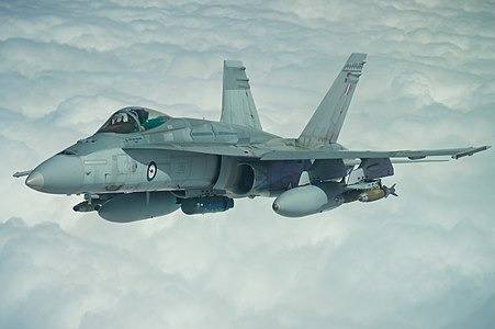 RAAF FA-18A Hornet in flight during Operation Okra over Iraq, March 22, 2017.jpg