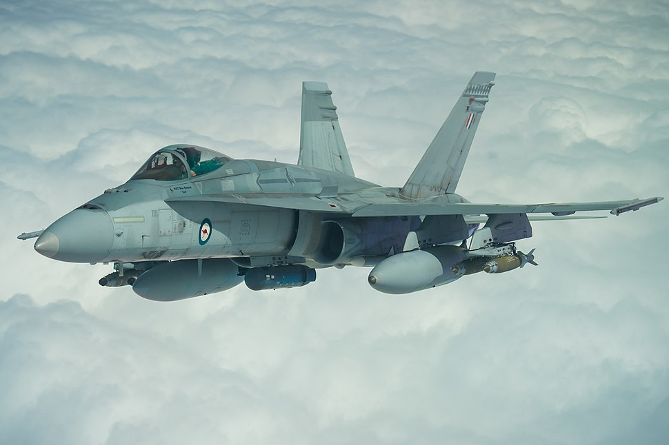 RAAF FA-18A Hornet in flight during Operation Okra over Iraq, March 22, 2017