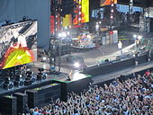 Concert des Red Hot Chili Peppers au Stade de France en juin 2012.