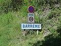 RN 85, panneau d'entrée Barrême.JPG