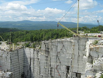 Rock of Ages Corporation - Rock of Ages granite quarry, viewed from an observation platform during a factory tour