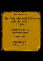 Rachela (Rachel) Schindler