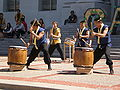 Raijin Taiko performing on Upper Sproul Plaza on Cal Day 2009 3.JPG