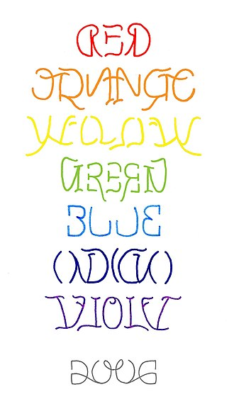 Ambigram - Image: Rainbow reflection ambigram