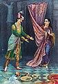Raja Ravi Varma, Keechaka and Sairandhri, Oleograph.jpg