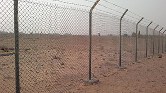 Dumah (son of Ishmael) - Ruins Near Dumah: it is common practice in Saudi Arabia to fence archaeological sites.