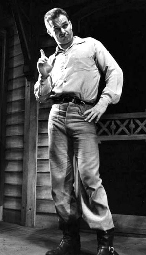 Ralph Meeker - Meeker in a stage production of Picnic, 1954
