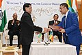 Ram Nath Kovind and the President of Ethiopia, Dr. Mulatu Teshome witnessing the signing of Agreement of MOU between Govt. of India and Govt. of Ethiopia on Trade Facilitation and the second related to the Information.jpg