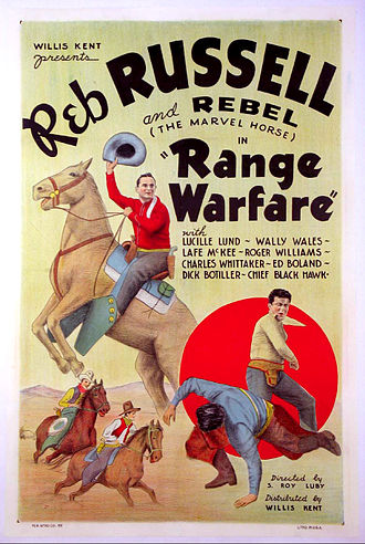 Lafayette Russell - Poster for Range Warfare (1934) with Russell