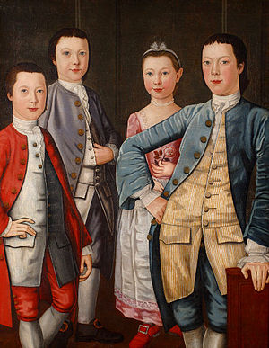History of New York City (1665–1783) - Settlers of New Amsterdam blended into new English colony. The Rapalje Children, 1768, children of trader of early New Amsterdam descent