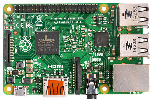 Raspberry Pi 2 Model B v1.1 top new (bg cut out)