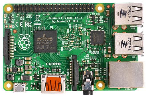 Raspberry Pi 2 Model B v1.1 top new (bg cut out)