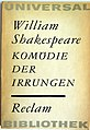 Reclam ub, Shakespeare, Irrungen.jpg