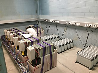 Zinc–bromine battery - RedFlow ZBM2 10kWh flow batteries in a performance testing lab