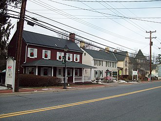 Reisterstown, Maryland - Historic buildings along Reisterstown Rd.