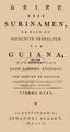 Reize naar Surinamen, en door de binnenste gedulten van Guiana, 1800, cover.png