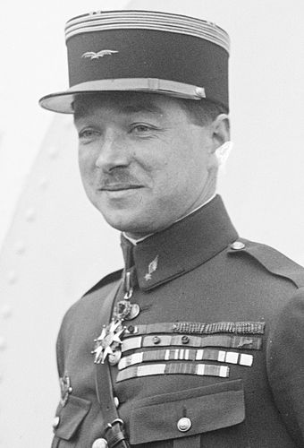 French Colonel Rene Fonck, to this day the highest-scoring Allied flying ace with 75 victories. Rene Fonck 02.jpg