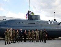 Renovated P-913 Zeta submarine at Pivka Military History Park.jpg