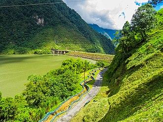 Tenza Valley - Chivor Reservoir and Dam in the Tenza Valley