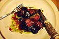 Restaurant Noma Råbuk med rødbede, timian og røde bær (4959206017).jpg