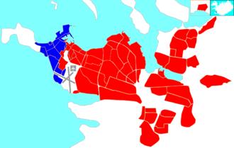Vesturbær - Image: Reykjavík map (D01 Vesturbær)