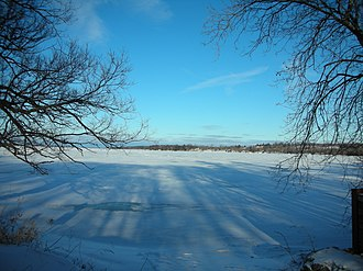 Rice Lake (Ontario) - Ice on Rice Lake, seen from Courtis Point.