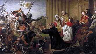 A Song of Ice and Fire - A Song of Ice and Fire series was partly inspired by the Wars of the Roses, a series of dynastic civil wars for the throne of England. This painting by Richard Burchett portrays Edward IV demanding that his defeated enemies be taken from Tewkesbury Abbey.