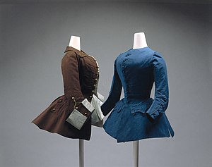 Riding coat - Image: Riding coat MET 1976.147.1 1976.147.2