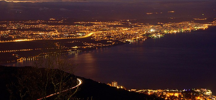 Rijeka Bay at night