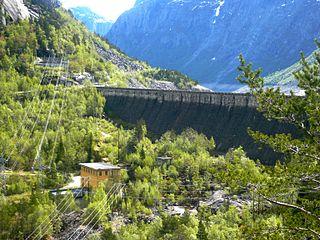 Ringedals Dam Dam in Ringedalsvatnet, Norway