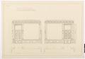 Ritning Stora salongen kortväggarna, Hallwylska palatset - Hallwylska museet - 101136.tif
