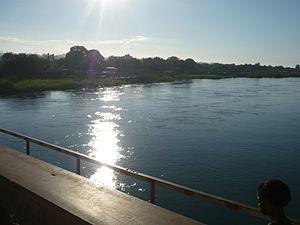 Lukuga River - River Lukuga from the bridge in Kalemie
