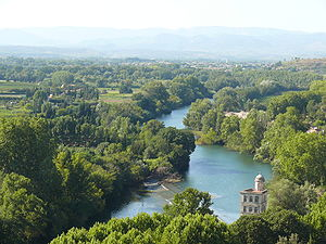 Orb (river) - Image: River Orb viewed from Beziers