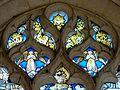 Roberval (60), église Saint-Remy, croisillon sud, verrière n° 6, tympan.JPG