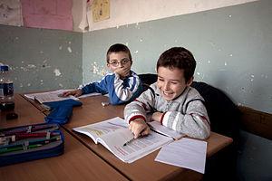 Education in Kosovo - Children studying in a primary school in Gjakova