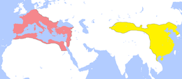 Color-coded map of Eurasia