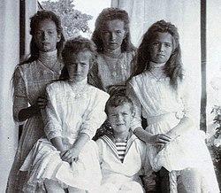 Els fills del tzar Nicolau l'any 1909